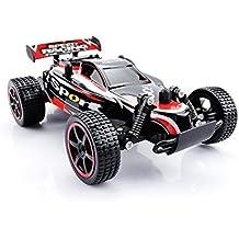 RC Auto, QZT 2.4 GHz Radio Control Geländewagen 2 WD 1: 20 RC ferngesteuertes Buggy Racing Auto rot mit 2 Batterien