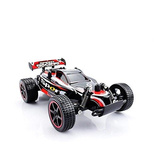 RC Auto, QZT 2.4 GHz Radio Control Geländewagen 2 WD 1: 20 RC ferngesteuertes Buggy Racing Auto rot mit 2 Batterien (Autos Autos Autos)
