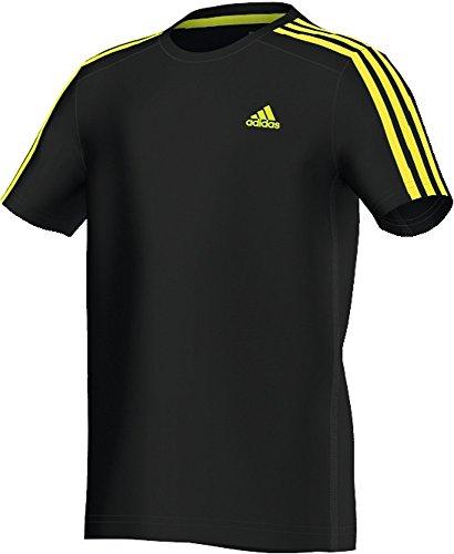 Adidas, Maglietta Bambino Essentials Negro - negro y amarillo