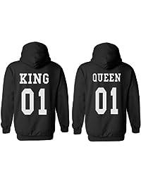 King Queen 01 Couple Matching Valentines Love Men Women Unisex Hooded Sweatshirt Hoodie