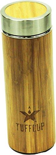 Edelstahl Bambus Flasche Vakuum Isoliert Kaffee Thermobecher, Obst und Saft-Ei, Wide-Mouth, tragbar 14,9oz Wasser Flasche Becher. BPA, Rost, und einen auslaufsicheren ()