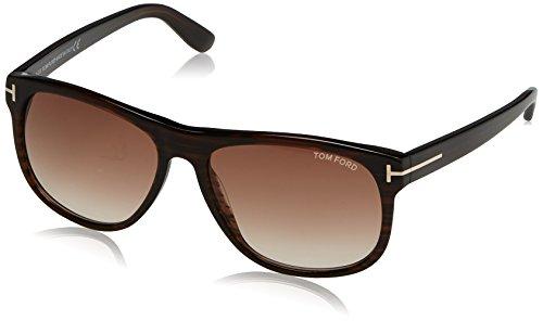 Tom Ford Herren FT0236 50P 58 Sonnenbrille, Braun (Marrone Scuro/Altro/Verde Grad),