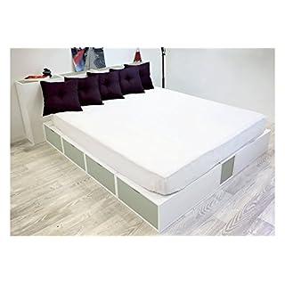 ABC MEUBLES - Doppelbett Boxen mit Schubladen - LITCUBLB - Grau, 160x200