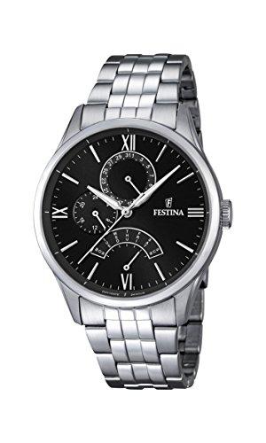 Festina Herren-Armbanduhr Analog Quarz Edelstahl F16822/4