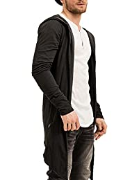trueprodigy Casual Hombre marca Camiseta Manga Larga basico ropa retro vintage rock vestir moda con capucha manga larga slim fit designer cool urban fashion shirt hoody color negro 1073176-2999