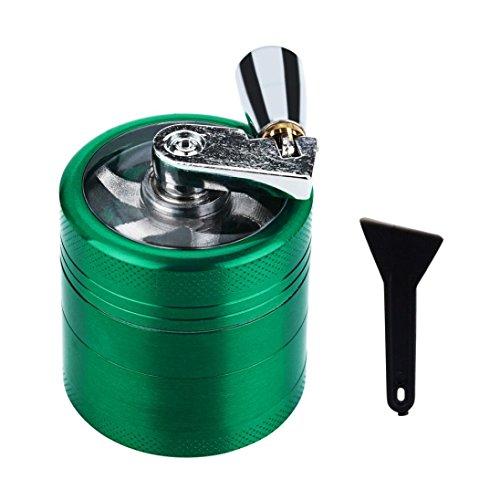 zolimx Trituradora de Manivela, Cortadora de Tabaco Trituradora de Mano Muller Shredder Estuche para Fumar (Negro)