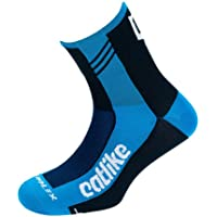 Catlike 37º Summer Time - Calcetines de ciclismo, color azul/negro, ...
