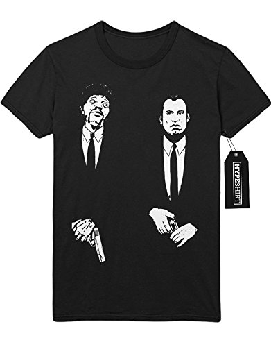 T-Shirt Pulp Fiction Vincent Vega and Jules Winnfield C123444 Schwarz (Und Vincent Winnfield Kostüme Vega Jules)