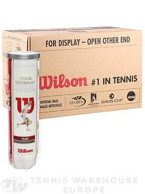 Preisvergleich Produktbild Wilson Tennisbälle Wilson Tour Germany Clay DTB 12 Bälle 3X4 Bälle