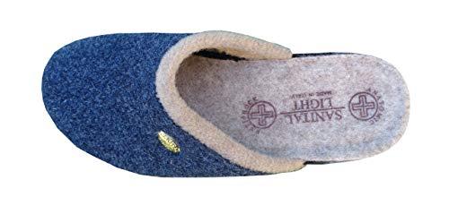Zoom IMG-3 pantofola in lana cotta blu