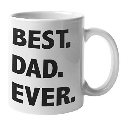 Shirtinator Tasse Papa Geschenk | Best Dad Ever | Geschenkidee für Vater | Lustige Kaffee-Tasse