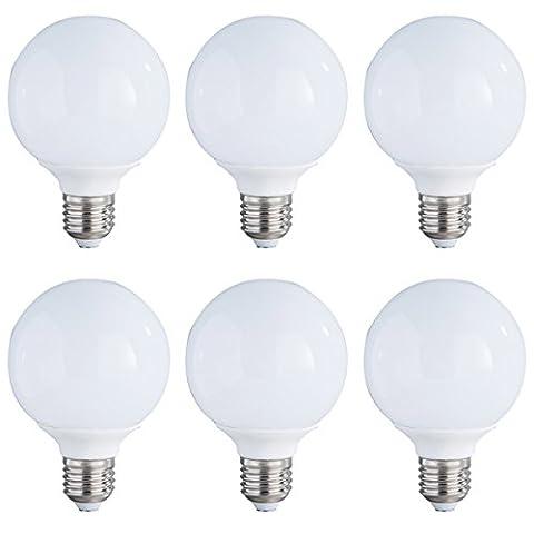 6-Pack Non-dimmable 5w (25w équivalent) Lumière LED A80 Ampoules E27 Base 270 degrés Angle de faisceau (Soft White 3000K)