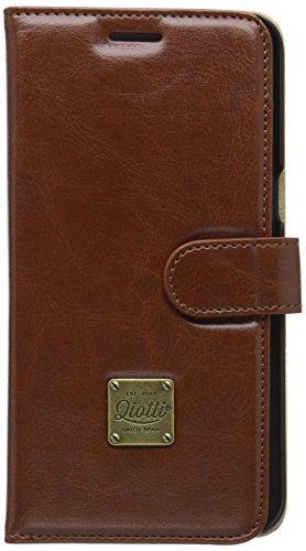QIOTTI QX-B-0040-01-SGS6EP Booklet Q.Book Classic Premium Eco Faux Leather für Samsung Galaxy S6 Edge Plus braun