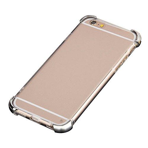 Cuitan 2 in 1 Electroplated Housse Case pour Apple iPhone 6 / 6s (4.7 Inch), TPU Doux Inner Case et PC Difficile Corners Transparent Back Cover Protecteur Etui Case Coque Case Cover Housse pour iPhone Argent
