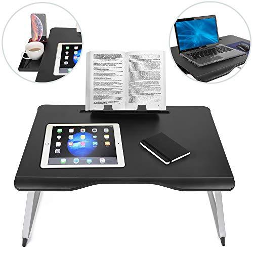 Cooper Cases Cooper Tabla Mate sofá, la Cama Escritorio del Ordenador portátil, la Escritura, el Estudio, la alimentación de Almacenamiento, Soporte de la Lectura (Onyx)