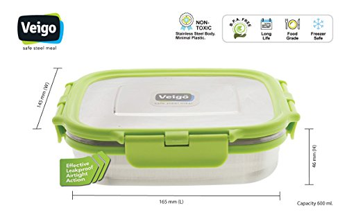 Veiki VEIGO Stainless Steel Lunch Box (BIG) (green)
