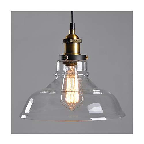 Huahan HaituoIndustrielle Edison Vintage Style 1-Lumière Pendentif En Verre Suspendu Forme de Bol 28CM (Ampoule Non-Inclus) 1PC