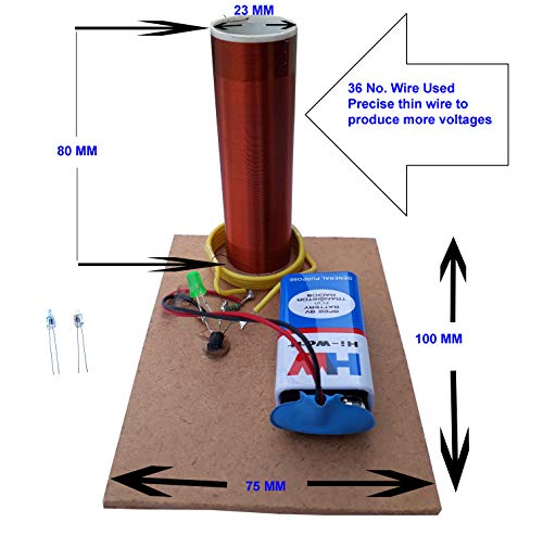 2 Pieces Tesla Coils Project Winning idea of Physics and Science fair Model