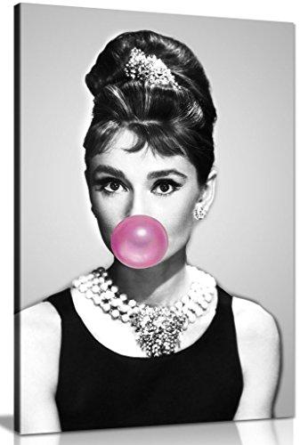 Kunstdruck, Audrey Hepburn mit Kaugummi, A0 91x61cm (36x24in)