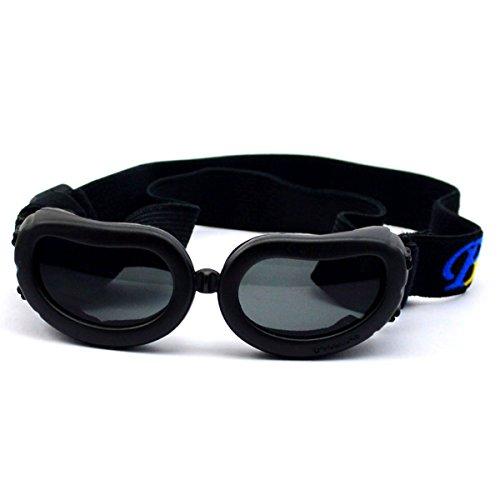 Homedecoam Hund Brille Sonnenbrille UV-Schutz Anti-Fog Brille für Ultra-kleine Hunde Schwarz