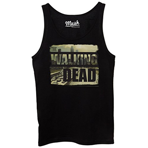 Canotta THE WALKING DEAD CITY SKYLINE - FILM by Mush Dress Your Style - Donna-M-Nera