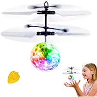 Bola voladora RC, RC Flying Juguetes, Niños Música Flying Ball, Drone HelicóPtero Bola de vuelo Built-in Shinning Iluminación LED para Niños,RC Juguete para niños adolescentes