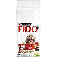 Fido Croq Mix Bœuf , Céréales et Légumes - 10 KG - Croquettes pour Chien Adulte