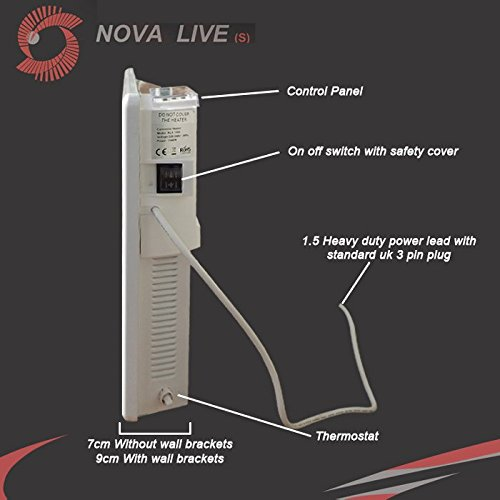 "41 3oZMFH9L. SS500  - 1500w""Nova Live S"" White Electric Horizontal Panel Heater - 24hr/7 day programming, 1.5KW Convector Heater - 640mm(w) x 400mm(h)"