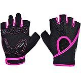 Radfahren Fitness Handschuhe für Herren und Damen Workout Gewichtheben Bodybuilding Fingerlos...