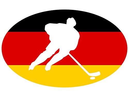 Michael & Rene Pflüger Barmstedt - Premium Aufkleber - 8x13 cm - Hockey Deutschland Eishockey Sticker Auto Motorrad Bike Autoaufkleber
