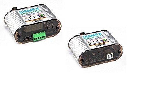 DMX Bundle LED-Player DMX + USB-DMX-Interface für RGB LED WS2812B , SK6812 u.a. -