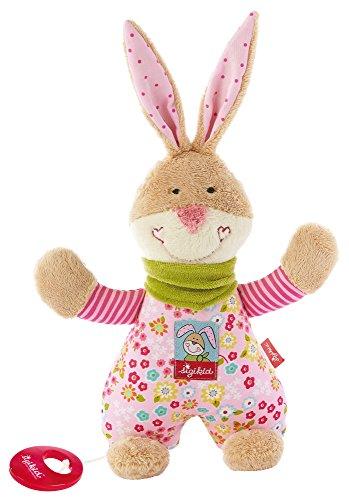 Liebe Bungee (sigikid, Mädchen, Spieluhr, Stofftier Hase Bungee Bunny, Rosa/Bunt, 40109)