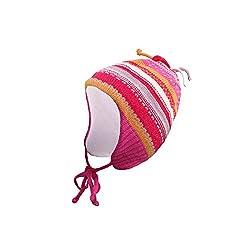 Ergora Babymütze Winter Jungen Mädchen Farbe Lollipop Gr. 41-43 Wintermütze Kindermütze Zipfelmütze Baumwollfutter