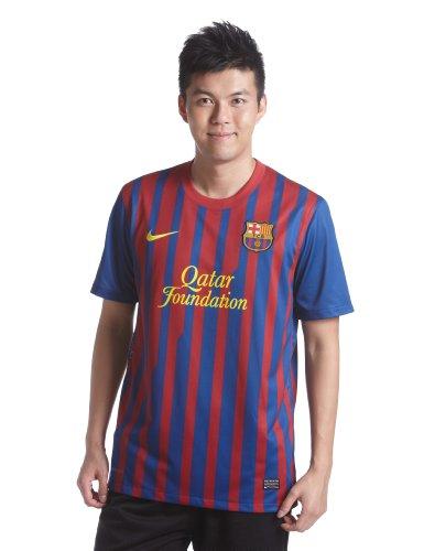 Nike Herren Kurzärmliges Trikot FC Barcelona Home Replica, storm blue/stromred/tour yellow, L, 419877-486