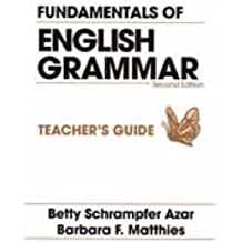 Fundamentals of English Grammar: Teachers' Bks. A & B (Azar English Grammar)