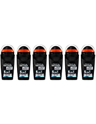 Men Expert L'Oréal Carbon Protect Ice Fresh Déodorant Bille Homme Anti-Traces 50 ml - Pack de 6