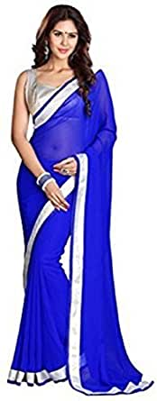 Sarees (Women's Clothing Saree For Women Latest Design Wear Sarees New Collection in Gold Coloured Georgette Material Latest Saree With Blouse Free Size Beautiful Saree For Women Party Wear Sarees With Blouse Piece)