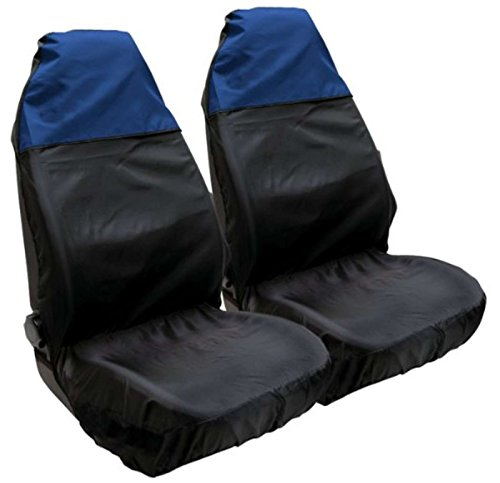 XtremeAuto® Waterproof Resistant Blue / Black Seat Covers High Quality - Includes XtremeAuto Sticker