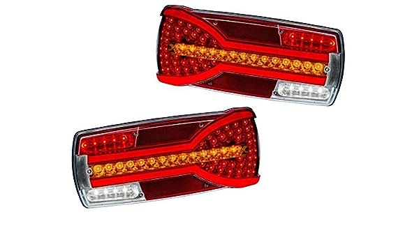 2 X Led Neon Kombination Rücklicht 12 V 24 V Beleuchtung Lampen Mit Dynamischen Richtung Anzeige E Prüfzeichen Auto
