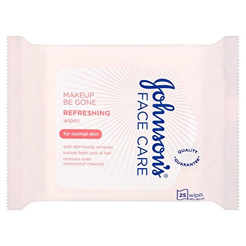 Johnson's Face Care Makeup Be Gone Refreshing Wipes, 25 Wipes