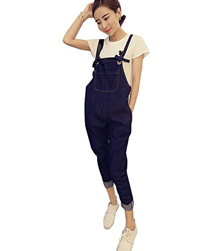 BOMOVO- Salopette- Jumpsuit-Slim- Jeans- All in one- Lungi- Donna