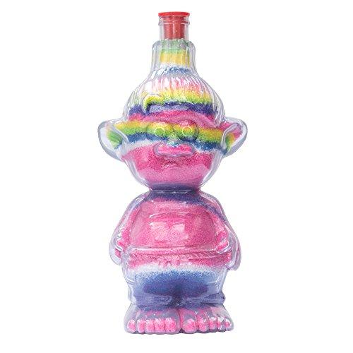 Sandkunstbastelflaschen mit roten Plastikstöpseln, einzigartige Troll-Form, ideal für Sandkunstaktivitäten in Schulen oder auf Gemeindeveranstaltungen, Kinderfeiern drinnen oder im Freien. Leere Sandflaschen, die mit farbigem Sand aufgefüllt werden können (5er - Sand-souvenir-flasche