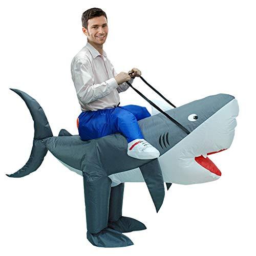 GYFY Hai aufblasbare Kleidung Puppe Halloween Erwachsene aufblasbare Kleidung Cartoon Tier Performance Kostüm