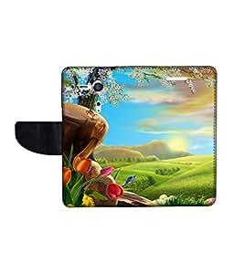 KolorEdge Printed Flip Cover For Sony Xperia SP Multicolor - (45KeMLogo11065XperiaSP)