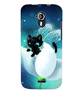 ColourCraft Cute Angel's Cat Design Back Case Cover for MICROMAX CANVAS MAGNUS A117