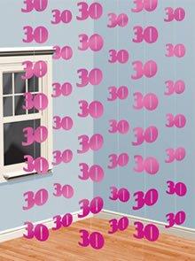 Età 30 Decorazioni string rosa