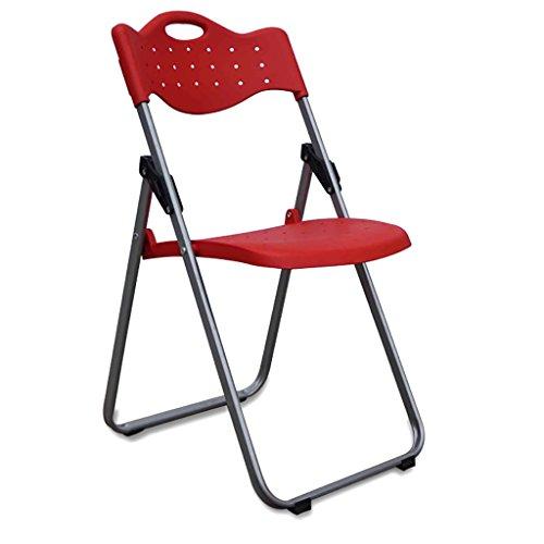 MXXYZ Klappsessel klappstühle Klappstühle Haushalt Klappstühle Bürostühle Konferenzstühle Computer Stühle Sitzlehnen Stühle Rückenlehnen Stühle (Farbe : Rot) - Kategorie Holz Bürostühle