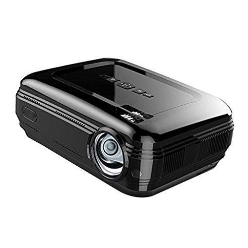 MagiDeal Mini Tragbarer LCD Beamer LED Projektor Heimkino Multimedia Video mit 3200 Lumen Unterstützt Videospiele 1080P HD Video HDMI VGA AV USB SD für PC Laptop TV Box und Xbox - Schwarz