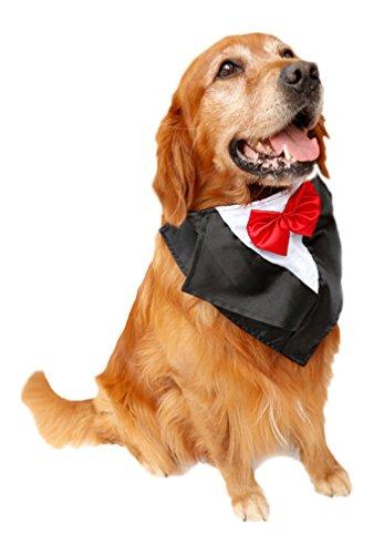 AIYUE® Halloween Haustier Kostüme Party Hunde Verkleidung Tuxedo Pet Halstuch Krawatte Kopftücher Large Pet Bandana Scarf Kostüm für großen - Halloween-kostüme Hund Große