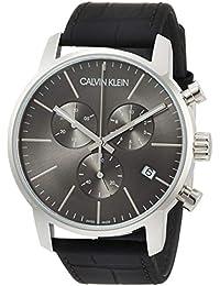 2d98110b078e Calvin Klein Reloj Cronógrafo de Cuarzo para Hombre con Correa de Cuero –  K2G271C3